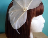 White Feather Wedding Fascinator