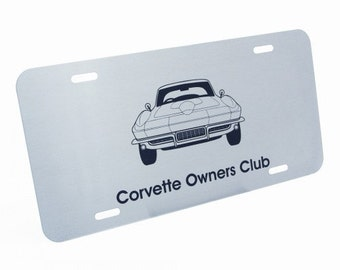 Personalized Brushed Steel Vanity License Plate - Laser Engraved
