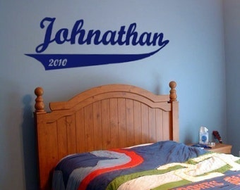 Personalized Ballpark Vinyl Decal - Baby Nursery, Child's Bedroom Decor