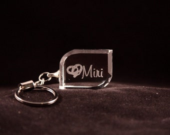 Personalized Crystal Keychain