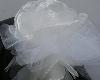 Bridal Fascinator White Rose