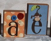 Jungle. Baby or Childs Wood Name Block Letters . Graeme