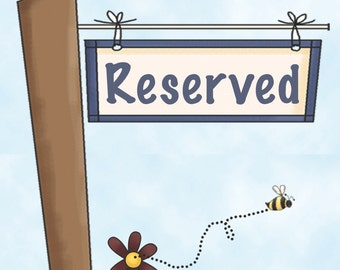 RESERVED for  yang xia