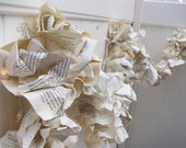 VINTAGE Book pages Repurposed Party Garland Upcycled books
