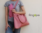 New color -Pink Pleated Bag with Adjustable Strap - 014