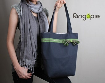Sale 30%OFF-Ready To Ship-Zipper Tote Bag in Gray/shoulder bags/purse/women/handbags/handmade bag/school bag/casual bag/women/For Her - 026