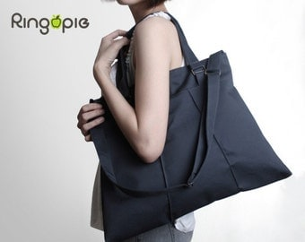 Sale 20%OFF-Ready To SHipDark Grey Pleated Bag with Adjustable Strap/Totes(water resistant)/messenger bags/school bag/purse/For Her- 013