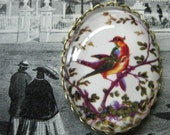 30x40mm Pendant Featuring Victoriana Birds . . . Beautiful