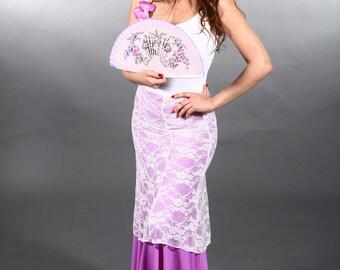SALE**ALICIA Skirt , Flamencita design,Flamenco top short skirt. Tribal fusion.