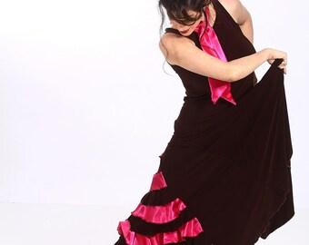 PASTORA Dress ,Flamencita design, Professional flamenco spanish dress. Tribal fusion. Size M.
