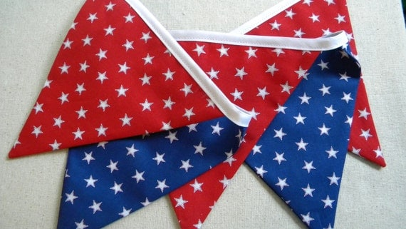 Free US Shipping/Fabric Banner/July 4th Fabric Bunting/Fabric Banner/Photo Prop/Independence Day Banner/Bunting/Pennant