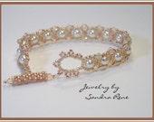 Beadwoven Pearls Bracelet - Beaded - Beadwork - Beadweaving Jewelry