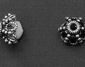 Bali Bead Cap - Handmade Sterling Silver BC16 (6) - CHBeads