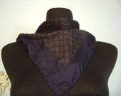 Italian silk scarf // Hankie handkerchief