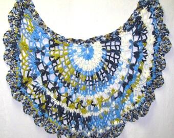 Ladies Blue & Green Shawl, Ladies Blue Cape, Ladies Multi-Colored Cape, Blue Shawl, Blue Spring Shawl, Blue Summer Shawl