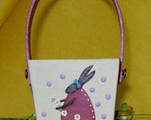 Easter Basket Bunny Rabbit Chick - Hand Painted