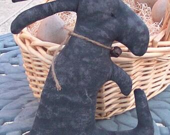 Rabbit - Black Rabbit Primitive - Folk Art