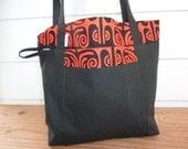 Hawaiian Print Lunch Tote Bag
