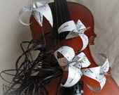 Romantic Music Sheet Origami Flowers by PaperDisciple - Made to order