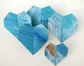 Map to My Heart - Oceanic Topography - Origami by Paper Disciple