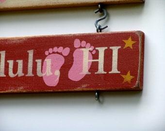 Milstone Marker - Pink Baby Feet