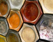 CUSTOM Magnetic Spice Rack for Compact Living (set of 12 LARGE empty jars). Free Shipping.