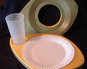 Plate and Cup Holders for Picnics