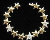 Reserved for V do not buy Vintage Joan Rivers Rhinestone Star Link Bracelet