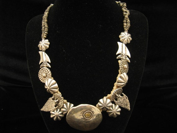Vintage Mary & Doug Hancock Southwestern NA Inspired Sterling Necklace