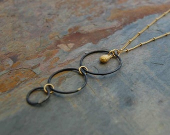 Chakras - The Earthly Trio - Gold and copper necklace