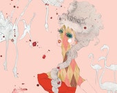 The Queen - featured in Curvy 6 art book, 8.5 x 11 print