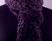 Where There is Smoke, Soft Charcoal Gray Chenille Scarf, Long