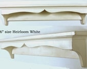 Shabby Chic Traditional Style Wall Shelf 36inch in your choice of color