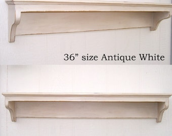 Shabby Chic Classic Style Wall Shelf 48inch in your choice of color
