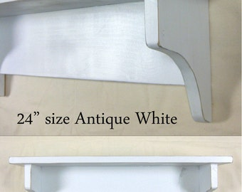 Shabby Chic Shabby Chic Primitive Style Wall Shelf 36inch in your choice of color