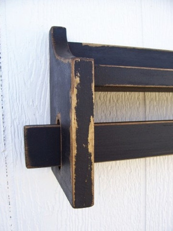 Items Similar To Quilt Rack Distressed Shabby Chic Shelf