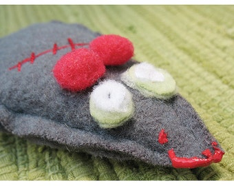 Grey Zombie Mouse Organic Catatonic Catnip Cat Toy