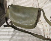 Coach Forrest Green Messenger Bag - Vintage