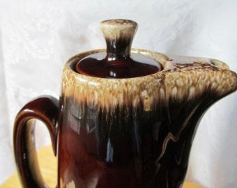 Vintage Hull Brown Drip Coffee Pot/Pitcher - Drip Glaze