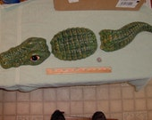 Large Three Piece Alligator Made of Ceramic