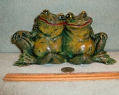 Cute Buddy Frogs Two Frogs Hugging Best Friend Frog Made of Ceramic