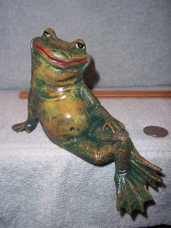 Cute Frog  Shelf Sitter  Made of Ceramic  Frogs