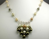 Pearl and Sterling Silver Wireworked Necklace