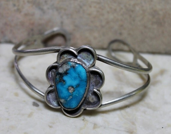 Turquoise Silver Cuff Bracelet