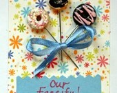 Donut Sewing Pin Toppers - set of 3