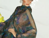 Sheer, Sexy Travel Tunic Top, Color Collage, Made in USA  One Size, Baby bump Coverup Batwings & Unique HOT singed look under 25 dollars