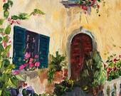 Art Print of Original Oil Painting Tuscany Italy 5x7