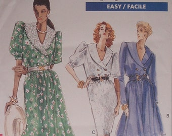Dress pattern, Uncut 1980s Vogue 7431 Misses Dress in sizes 12, 14, and 16