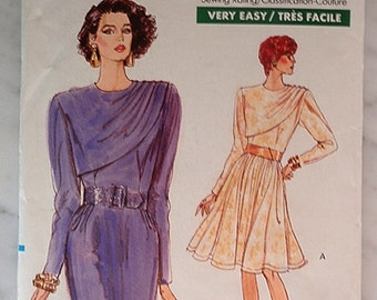 Party Dress pattern, Uncut 1980s Vogue 7355 in size 14