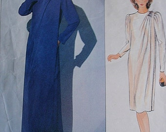Evening Dress pattern. Vogue 1117 Designer Jerry Silverman misses dress short or long length in size 12